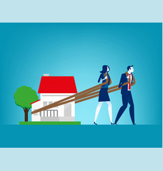 House loan concept finance and economy vector
