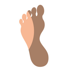 human foot silhouette vector image