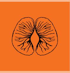 icon of mandarin vector image