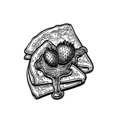 ink sketch blini vector image