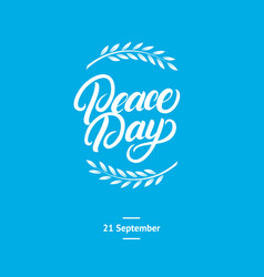 International peace day card poster vector