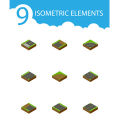 Isometric road set of bitumen incomplete vector