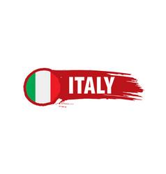 Italy flag on a white vector