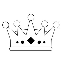King queen crown symbol black and white vector