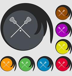 Lacrosse Sticks crossed icon Symbols on eight vector