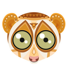 Lemur head logo monkey decorative emblem vector