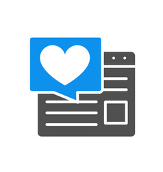 love article on internet colored icon website vector image