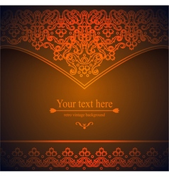 Luxurious Victorian retro background pattern with vector