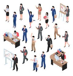 men and women business set vector image