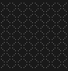 minimalist seamless pattern dots in diagonal grid vector image