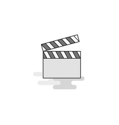 movie clip web icon flat line filled gray icon vector image