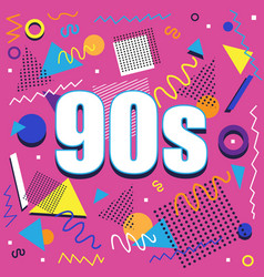 Party time 60s style label vector