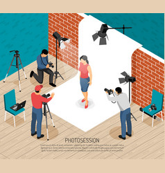 Photo session isometric composition vector
