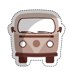 Retro van vehicle icon vector
