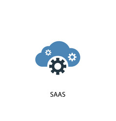 saas concept 2 colored icon simple blue element vector image