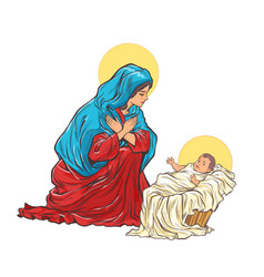 saint mary mother jesus vector image