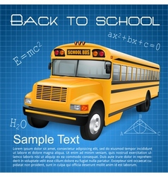 School bus with formulas vector image