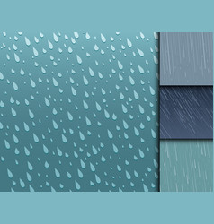 Seamless colorful rain drops pattern background vector
