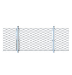 seamless fence made of metal wire mesh vector image