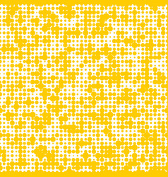 seamless yellow background with polka dots vector image