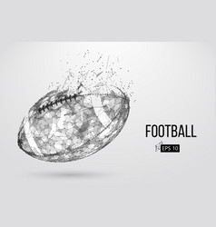 Silhouette of a footballl ball vector
