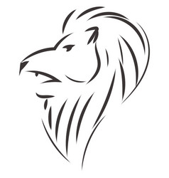 simple black and white sketch of leo horoscope vector image