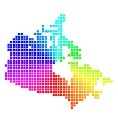 Spectral pixel canada map vector