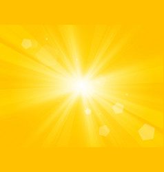sun with lens flare yellow abstract background vector image
