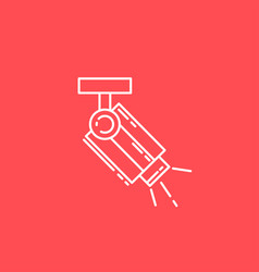 Surveillance camera line icon sign for vector