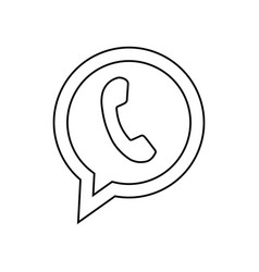 Telephone icon with black color phone pictogram vector