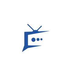tv logo design vector image