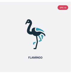 two color flamingo icon from animals concept vector image