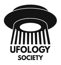 Ufology society fan logo simple style vector