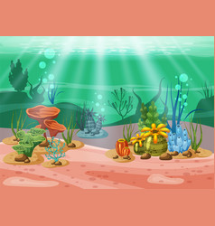 underwater and life the beauty of vector image
