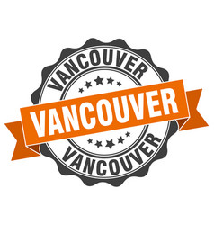 Vancouver round ribbon seal vector