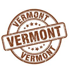 vermont brown grunge round vintage rubber stamp vector image
