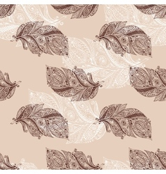 Vintage seamless pattern with original hand drawn vector image