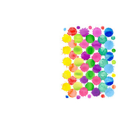 Watercolor confetti isolated abstract spot vector