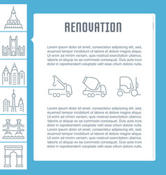website banner and landing page renovation vector image