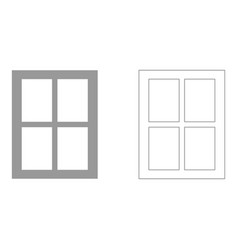 window set icon vector image