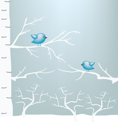 winter and birds on branch vector image