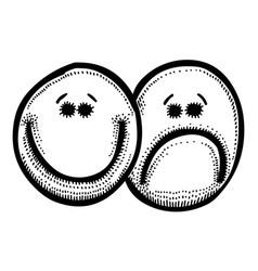 Cartoon image of emotion icon emotion set vector