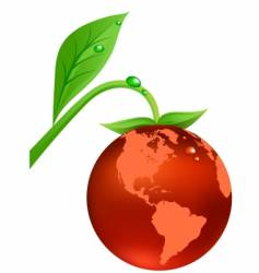 earth fruit vector image vector image