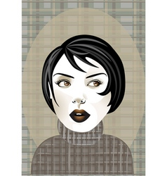 funky woman vector image vector image