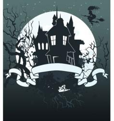 Halloween ribbon background vector image