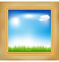 landscape in frame vector image vector image