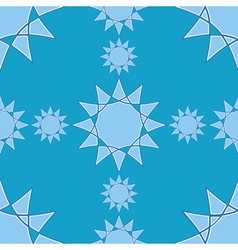 Seamless winter pattern with star elements on blue vector image