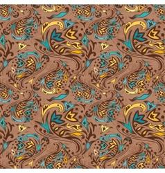 Arabic swirl pattern vector image vector image