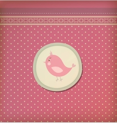 Beautiful baby vintage greeting card vector image vector image