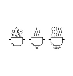 Cooking line icons set vector image vector image